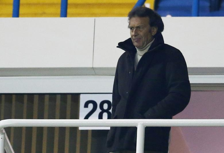 Leeds United owner Massimo Cellino watches from the stands Mandatory Credit: Action Images / Andrew Boyers