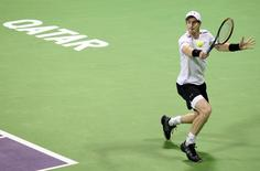 Tennis - Qatar Open - Men's Singles - Andy Murray of Britain v Gerald Melzer of Austria - Doha, Qatar - 4/1/2017 - Murray in action. REUTERS/Naseem Zeitoon