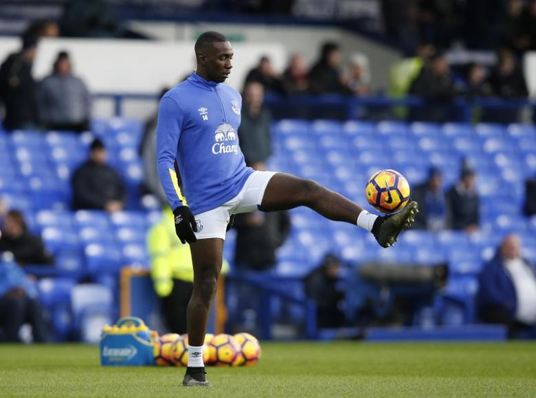 Britain Football Soccer - Everton v Swansea City - Premier League - Goodison Park - 19/11/16 Everton's Yannick Bolasie during the warm up before the match Reuters / Andrew Yates