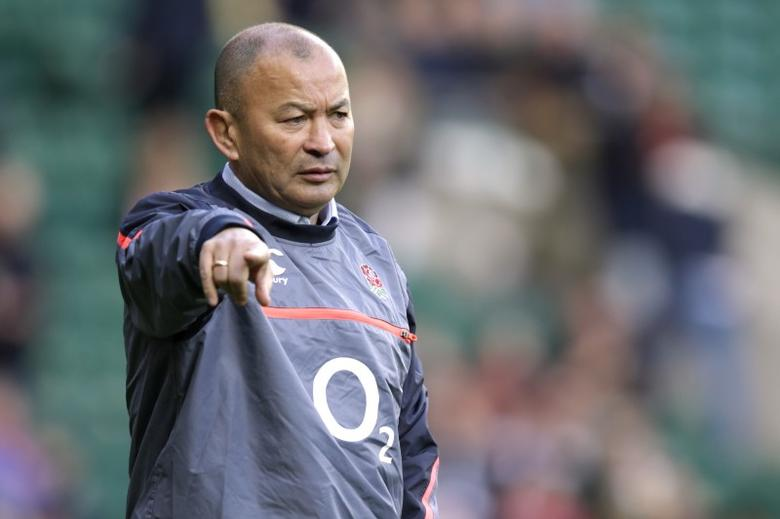 Britain Rugby Union - England v Australia - 2016 Old Mutual Wealth Series - Twickenham Stadium, London, England - 3/12/16 England head coach Eddie Jones gestures during the warm up Action Images via Reuters / Henry Browne Livepic
