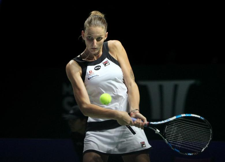 Czech Republic's Karolina Pliskova in action during her round robin matchMandatory Credit: Action Images / Yaocheng Lee