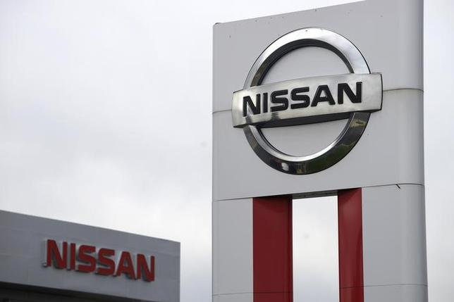 Nissan signs are seen outside a Nissan auto dealer in Broomfield, Colorado October 1, 2014. REUTERS/Rick Wilking/Files