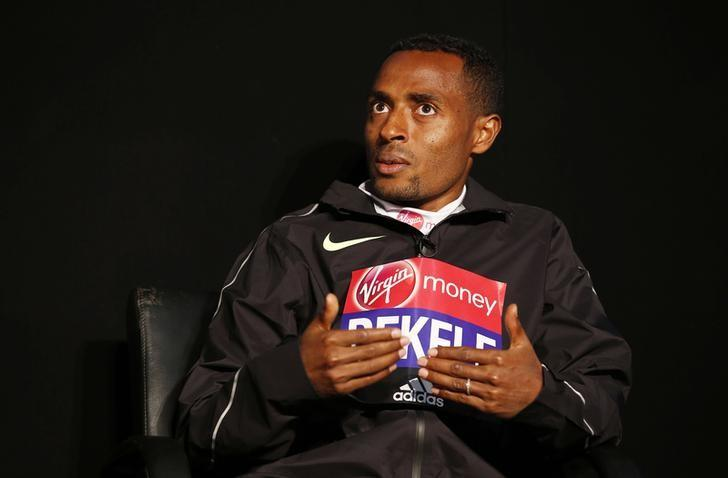 Athletics - 2016 Virgin Money London Marathon Preview - London - 20/4/16Ethiopia's Kenenisa Bekele during a press conference ahead of the 2016 Virgin Money London MarathonAction Images via Reuters / Peter CziborraLivepic/Files