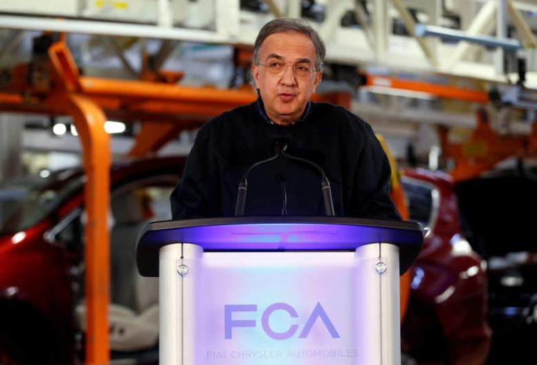 FCA CEO Sergio Marchionne attends the celebration of the production launch of the all-new 2017 Chrysler Pacifica minivan at the FCA Windsor Assembly plant in Windsor, Ontario, May 6, 2016. REUTERS/Rebecca Cook