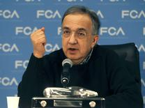 Fiat Chrysler Automobiles CEO Sergio Marchionne speaks during the North American International Auto Show in Detroit, Michigan, U.S., January 9, 2017.  REUTERS/Rebecca Cook