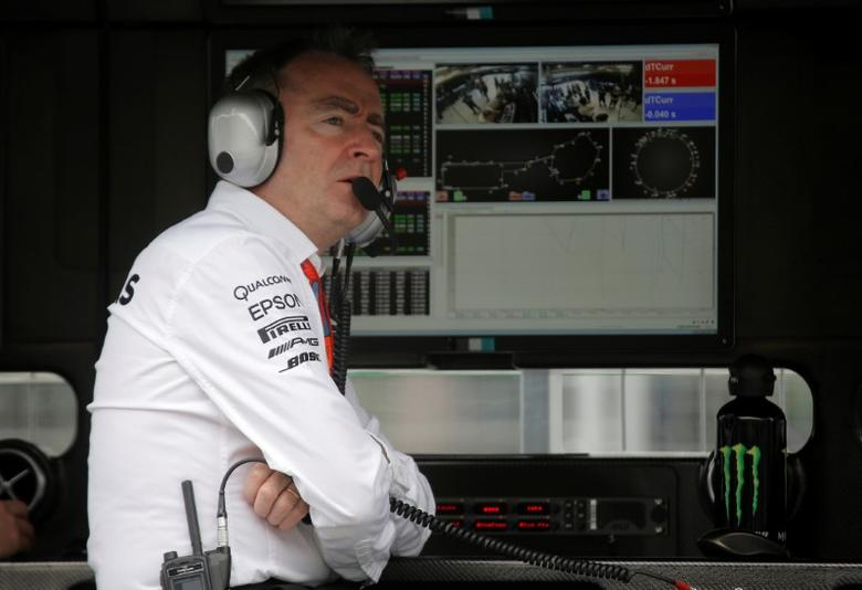 Formula One - Grand Prix of Europe - Baku, Azerbaijan - 17/6/16 - Mercedes AMG Formula One technical chief Paddy Lowe looks on during the first practice session.REUTERS/Maxim Shemetov