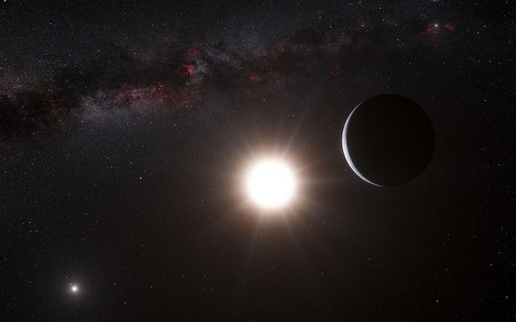 This artist's impression shows a planet orbiting the star Alpha Centauri B, a member of the triple star system that is the closest to Earth in this image released on October 17, 2012. REUTERS/ESO/L. Calcada/N. Risinger (skysurvey.org)/Handout/Files
