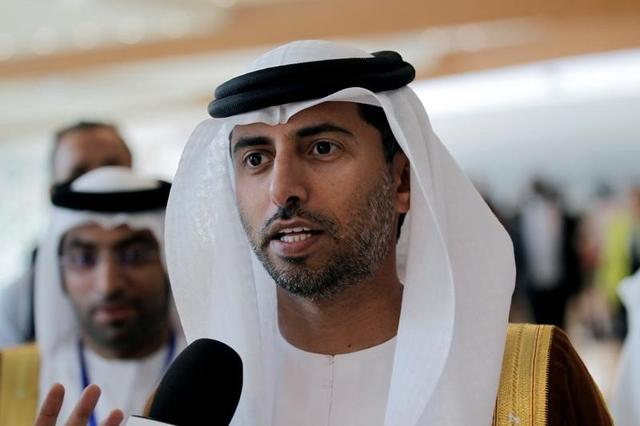 UAE Energy Minister Suhail bin Mohammed al-Mazroui talks to reporters during the 15th International Energy Forum Ministerial (IEF15) in Algiers, Algeria September 28, 2016. REUTERS/Ramzi Boudina/Files
