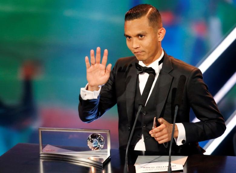 Malaysian footballer Mohd Faiz Subri attends the Best FIFA Football Awards in Zurich, Switzerland January 9, 2017. Picture taken January 9, 2017. REUTERS/Ruben Sprich