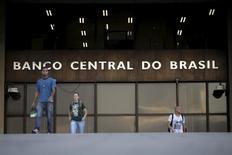 Sede del Banco Central de Brasil, en Brasilia. 23/09/2015 .El Banco Central de Brasil recortó las tasas de interés en 75 puntos básicos el miércoles, sorprendiendo a los mercados con una reducción más agresiva que la esperada para sacar a la economía de su peor recesión en la historia.. REUTERS/Ueslei Marcelino