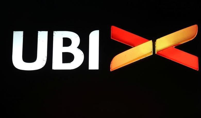 UBI Banca Popolare Commercio & Industria logo is seen in Milan, Italy, February 28, 2016.   REUTERS/Stefano Rellandini/File Photo