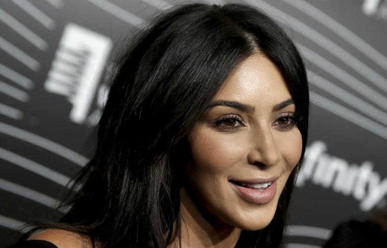FILE PHOTO: Kim Kardashian West participates in a television interview as she arrives for the 20th Annual Webby Awards in Manhattan, New York, U.S., May 16, 2016. REUTERS/Mike Segar/File Photo