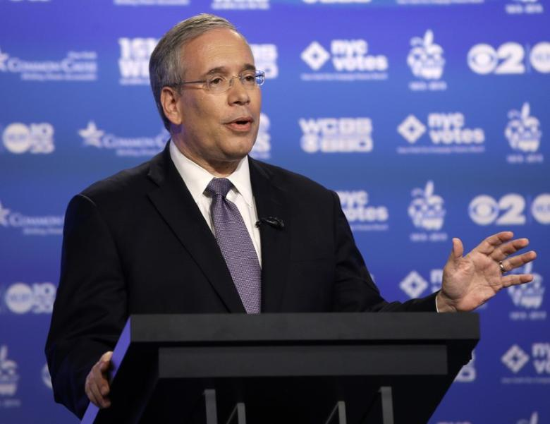 File picture of Scott Stringer speaking during a primary debate for New York City comptroller in the WCBS-TV studios in New York, August 22, 2013. REUTERS/Frank Franklin II/POOL