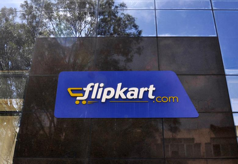 FILE PHOTO: The logo of India's largest online marketplace Flipkart is seen on a building in Bengaluru, India, April 22, 2015. REUTERS/Abhishek N. Chinnappa/File Photo
