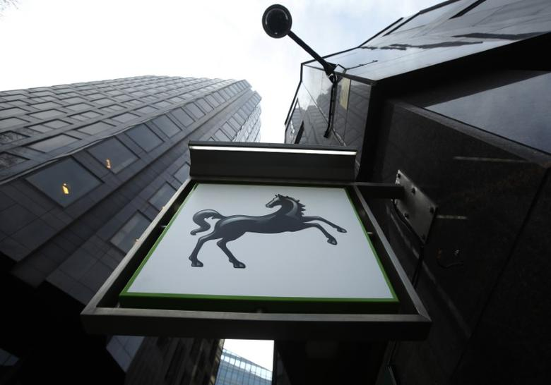 A sign is seen outside a branch of Lloyds Bank in central London February 3, 2014. REUTERS/Luke MacGregor