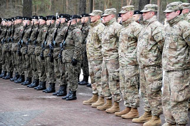 U.S soldiers arrive to Zagan as part of NATO deployment, Zagan, Poland January 12, 2017. Agencja Gazeta/Anna Krasko via REUTERS