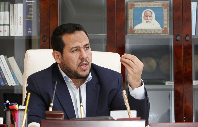 FILE PHOTO - Abdul Hakeem Belhadj, leader of the Al-Watan party, speaks during an interview with Reuters in Tripoli March 4, 2015. REUTERS/Ismail Zitouny/File Photo