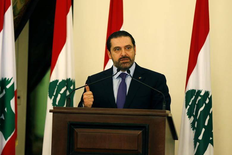 Lebanese Prime Minister Saad al-Hariri talks during a conference in Beirut, Lebanon January 19, 2017. REUTERS/Mohamed Azakir