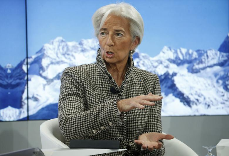 Christine Lagarde, Managing Director, International Monetary Fund (IMF) attends the annual meeting of the World Economic Forum (WEF) in Davos, Switzerland January 18, 2017.  REUTERS/Ruben Sprich