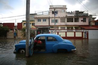 Flooded streets of Havana