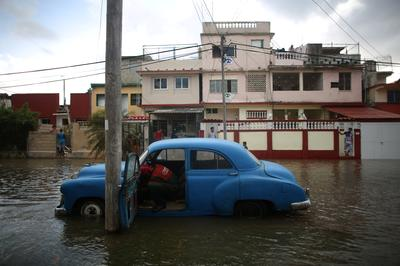 Flooded streets of Havana