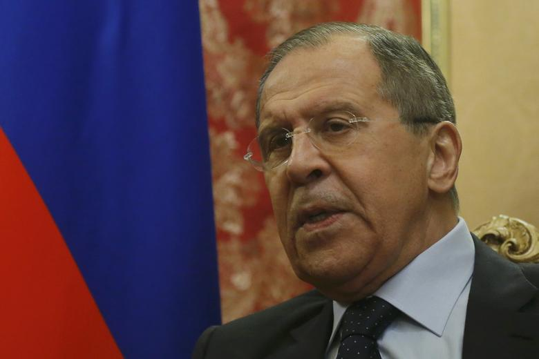 Russian Foreign Minister Sergei Lavrov speaks during a meeting with his Jordanian counterpart Ayman Safadi in Moscow, Russia January 24, 2017.  REUTERS/Maxim Shemetov