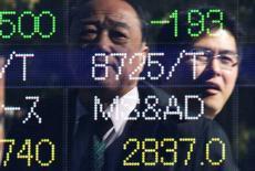 La Bourse de Tokyo a fini en baisse de 1,22% jeudi. L'indice Nikkei a perdu 233,50 points à 18.914,58. /Photo d'archives/REUTERS/Issei Kato