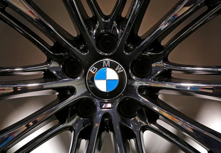A BMW logo is seen on a wheel at the Brussels International Auto Show in Belgium,  January 22, 2015.    REUTERS/Yves Herman/File Photo