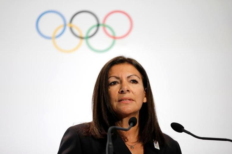 Mayor of Paris Anne Hidalgo speaks during the launch of the international campaign for the Paris bid to host the 2024 Olympic Games, in Paris, France, February 3, 2017. REUTERS/Benoit Tessier