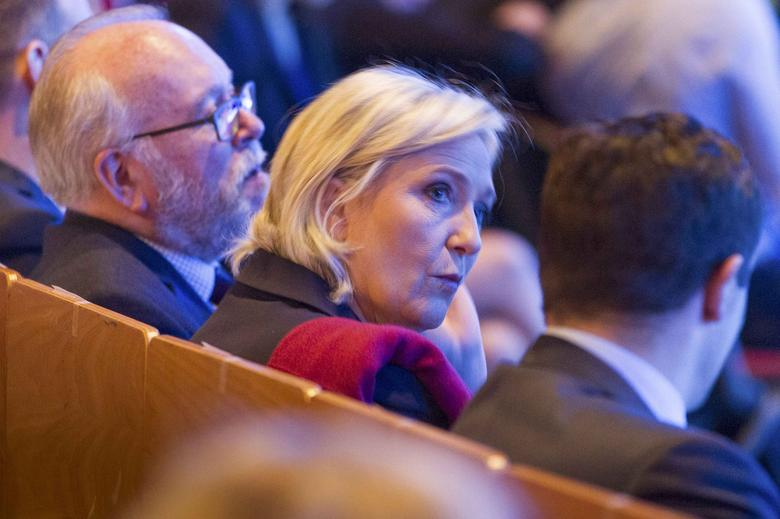 Marine Le Pen, French National Front (FN) political party leader and candidate for French 2017 presidential election, attends the 2-day FN political rally to launch the presidential campaign in Lyon, France, February 4, 2017. REUTERS/Emmanuel Foudrot