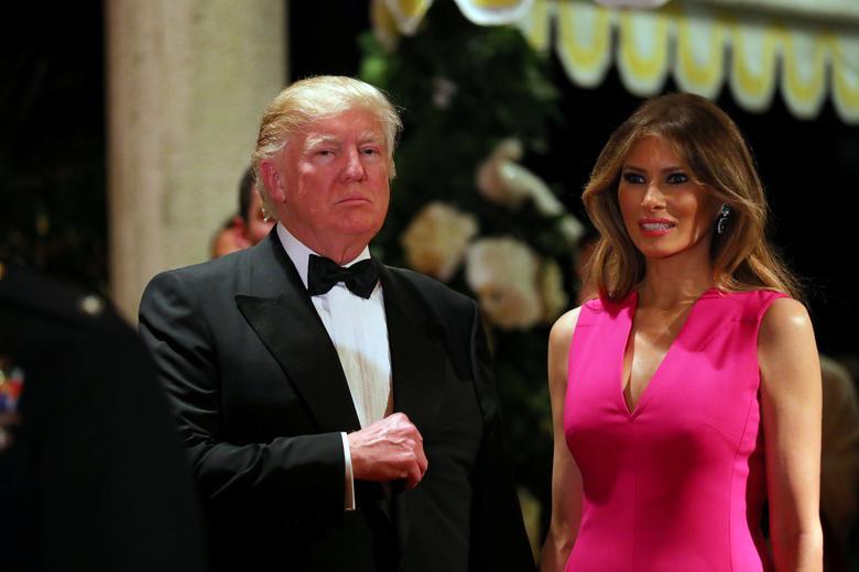 U.S. President Donald Trump and First Lady Melania Trump attend the 60th Annual Red Cross Gala at Mar-a-Lago club in Palm Beach, Florida, U.S., February 4, 2017. REUTERS/Carlos Barria
