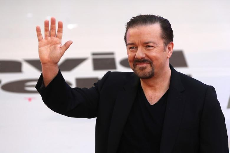 Actor and director Ricky Gervais poses for photographers at the world premiere of his film David Brent Life on the Road in London, Britain August 10, 2016. REUTERS/Neil Hall