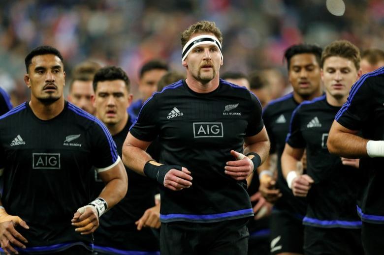 France Rugby - France v New Zealand All Blacks - Stade de France, Saint-Denis near Paris, France, 26/11/2016. New Zealand's lock Brodie Retallick during the warm up. REUTERS/Benoit Tessier
