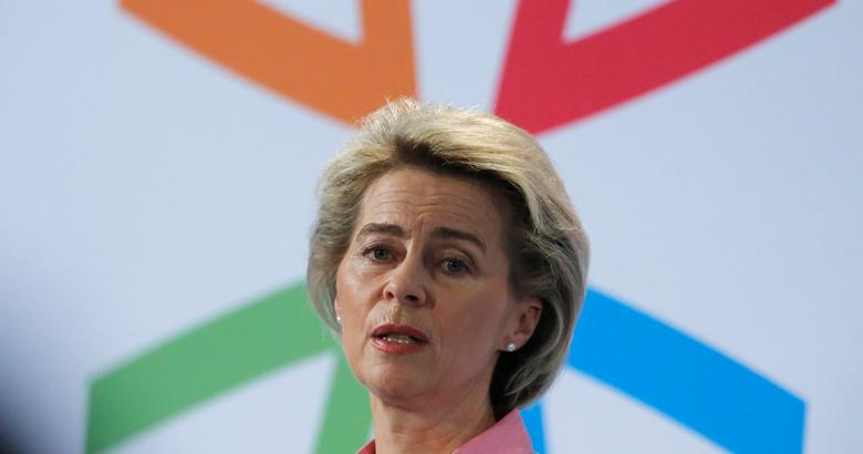 German Defence Minister Ursula von der Leyen delivers a speech to open a workshop about sexual orientation and identity at the German Armed Forces  Bundeswehr in Berlin, Germany, January 31, 2017. REUTERS/Hannibal Hanschke