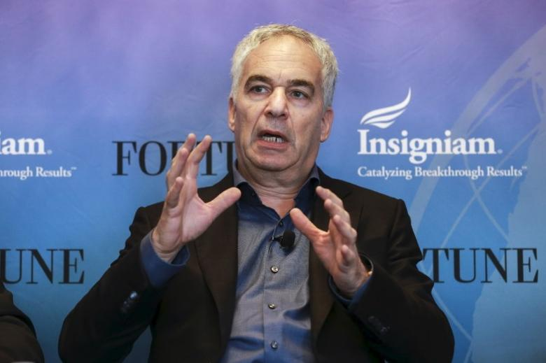 Erez Vigodman, President and CEO of Teva Pharmaceutical, participates in a panel discussion at the 2015 Fortune Global Forum in San Francisco, California November 3, 2015. REUTERS/Elijah Nouvelage - RTX1ULU1