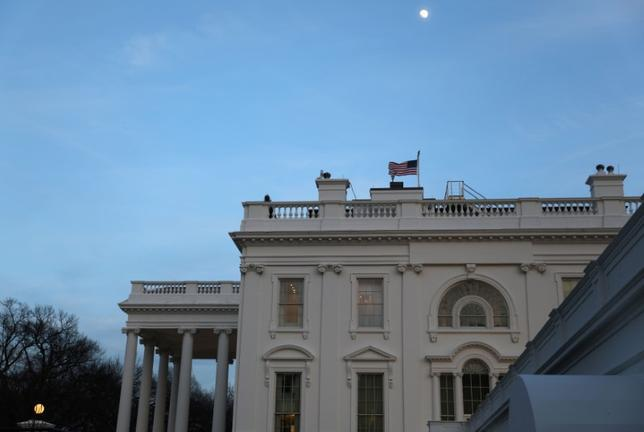 The White House is seen in at dusk in Washington, U.S., February 7, 2017.  REUTERS/Jim Bourg