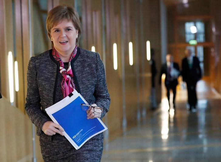 Scotland's First Minister Nicola Sturgeon arrives to deliver a statement on Brexit during a session of Scotland's Parliament at Holyrood in Edinburgh, December 20, 2016. REUTERS/Russell Cheyne