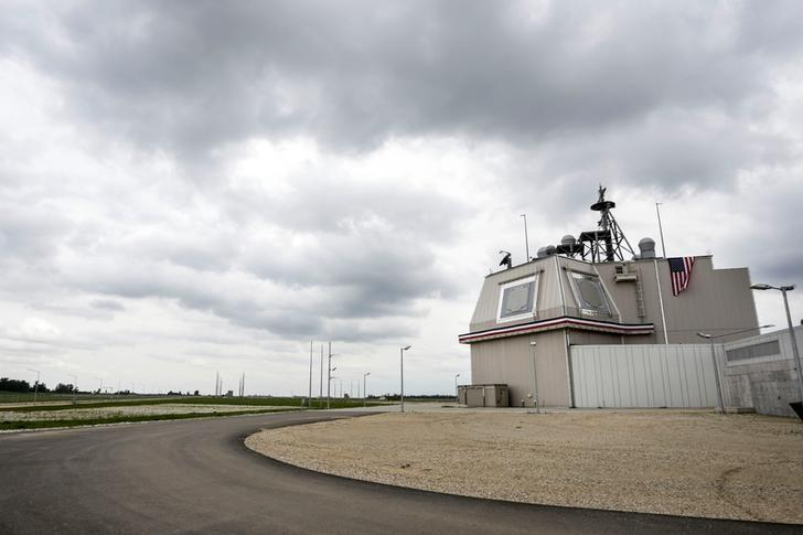 The deckhouse of the Aegis Ashore Missile Defense System (AAMDS) at Deveselu air base, Romania, May 12, 2016. Inquam Photos/Adel Al-Haddad/via REUTERS/Files