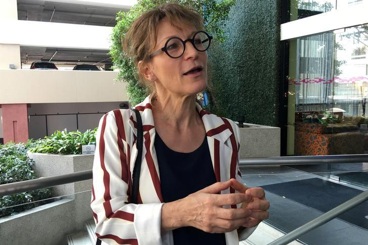 Agnes Callamard, U.N. Special Rapporteur on Extra-Judicial summary or arbitrary Executions, speaks with reporters in Bangkok February 8, 2017. REUTERS/Andrew Marshall