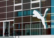Штаб-квартира Puma в Херцогенаурахе, Германия. Немецкий производитель спортивной одежды Puma сообщил о хорошем росте продаж в четвертом квартале и дал оптимистичный прогноз на 2017 год ввиду популярности кроссовок в стиле ретро и тенденции привлечения звезд, таких как спринтер Усэйн Болт и певица Рианна, в качестве лиц бренда. REUTERS/Michaela Rehle/File Photo