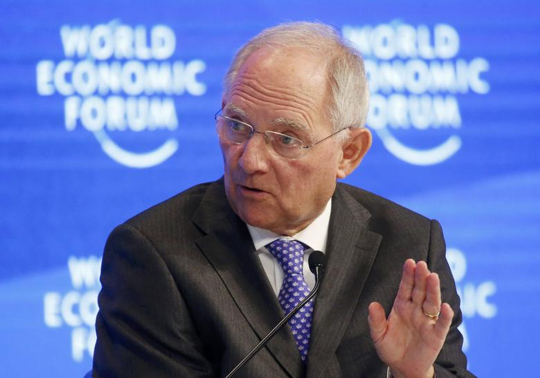 Wolfgang Schaeuble, German Minister of Finance attends the World Economic Forum (WEF) annual meeting in Davos, Switzerland January 20, 2017.  REUTERS/Ruben Sprich