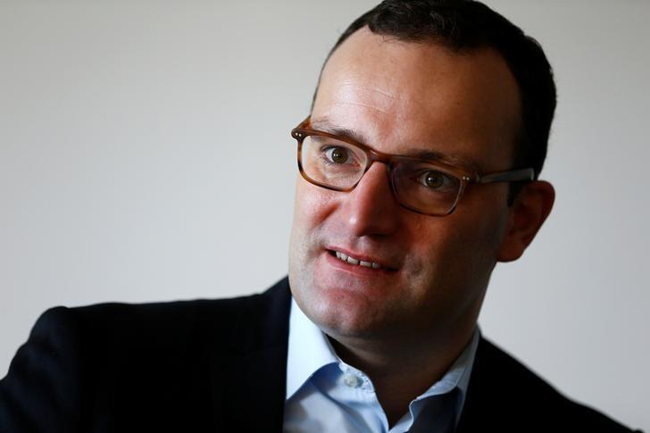 German Deputy Finance Minister Jens Spahn speaks during an interview with Reuters in Berlin, Germany October 4, 2016.    REUTERS/Joachim Herrmann/Files