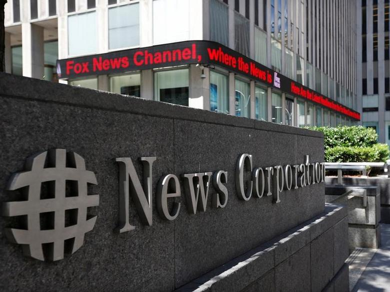 FILE PHOTO - A sign is seen outside News Corporation building in New York, June 27, 2012.  REUTERS/Brendan McDermid/File Photo