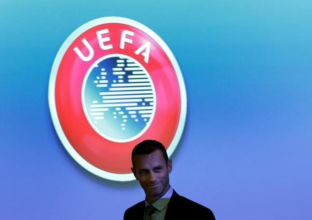 2月9日、サッカーの欧州連盟(UEFA)のアレクサンデル・チェフェリン会長は、会長の任期を最大で3期12年とする方針を明らかにした。写真は2016年12月にスイスのニヨンで撮影(2017年ロイター/Denis Balibouse)