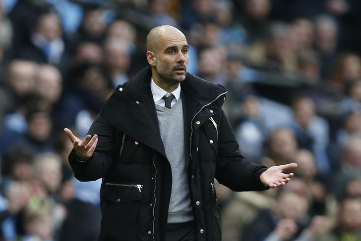 Britain Soccer Football - Manchester City v Swansea City - Premier League - Etihad Stadium - 5/2/17 Manchester City manager Pep Guardiola  Reuters / Andrew Yates Livepic