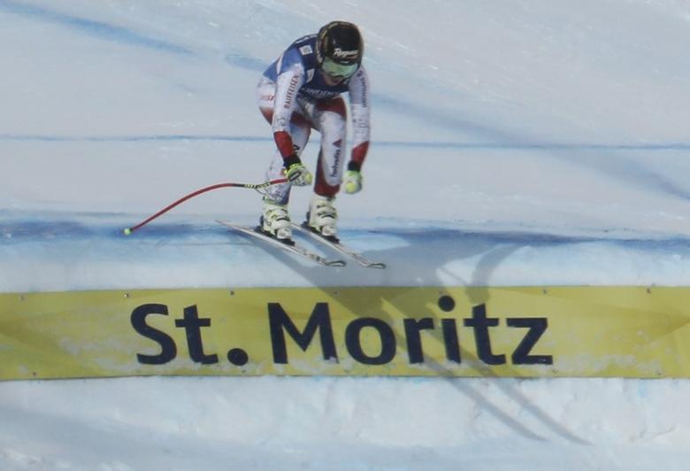 Alpine Skiing - FIS Alpine Skiing World Championships - Women's Alpine Combined - St. Moritz, Switzerland - 10/2/17 -  Lara Gut of Switzerland skis in the Downhill part of the Alpine Combined event.     REUTERS/Denis Balibouse