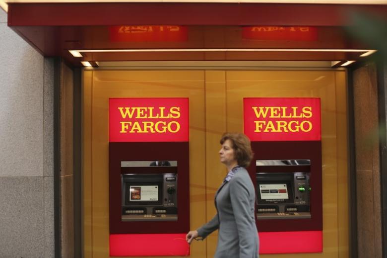 Wells Fargo bank teller machines are seen in San Francisco, California, U.S. October 10, 2013.   REUTERS/Robert Galbraith /File Photo