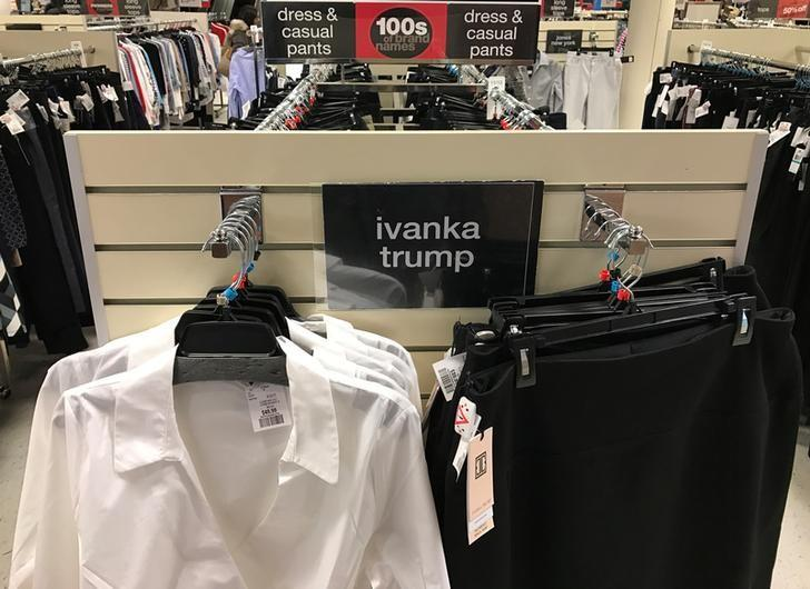 Ivanka Trump-branded blouses and trousers are seen for sale at off-price retailer Winners in Toronto, Ontario, Canada February 3, 2017.  REUTERS/Chris Helgren