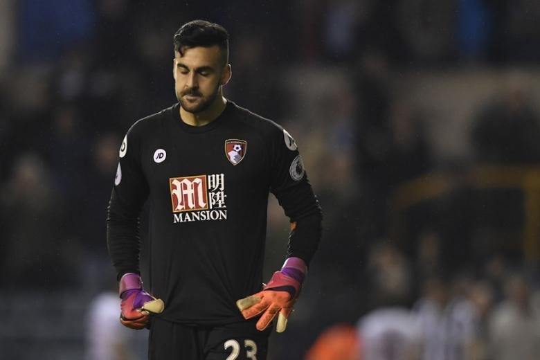 Britain Football Soccer - Millwall v AFC Bournemouth - FA Cup Third Round - The New Den - 7/1/17 Bournemouth's Adam Federici  looks dejected  Action Images via Reuters / Tony O'Brien Livepic/Files