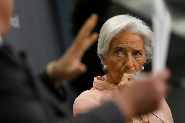 2月12日、IMFのラガルド専務理事は、欧州で年内に予定されている選挙の結果を懸念していると述べた。ワシントンで8日撮影(2017年 ロイターJonathan Ernst)